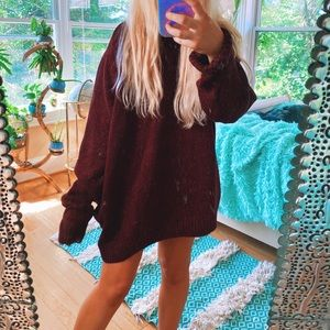 Sweaters - Red Speckled Stone Oversized Chunky Sweater 🌙